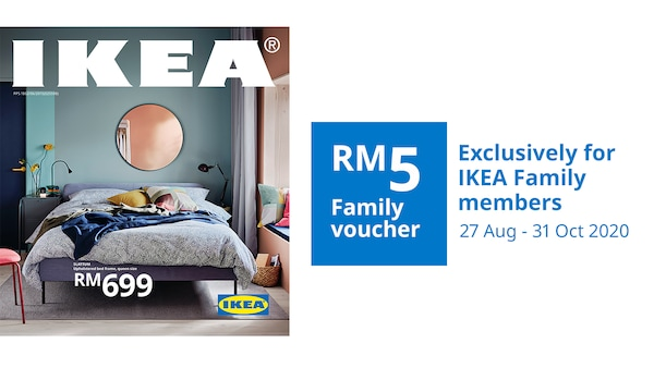 FY21 IKEA Catalogue front cover and voucher for IKEA Family members