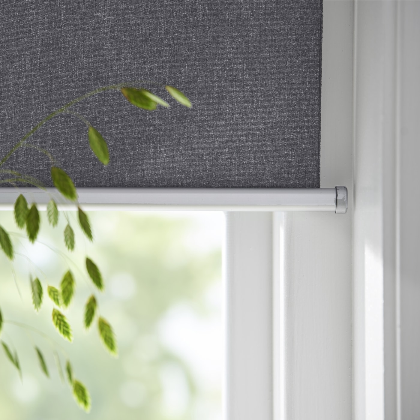 FYRTUR smart window blind rolled out, shown against a white background.