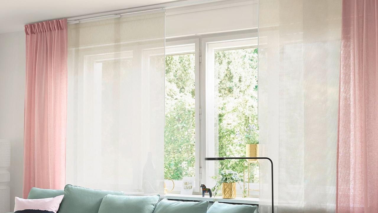 Ikea VIDGA Gardinen Gleiter /& Haken in weiß 24 Stück