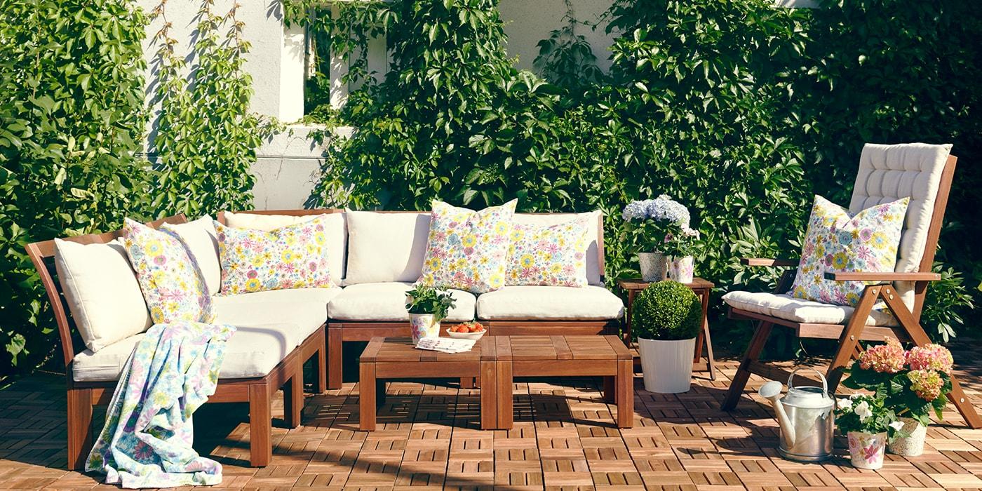 Gartenmöbel Sitzauflage - ÄPPLÄRÖ Serie
