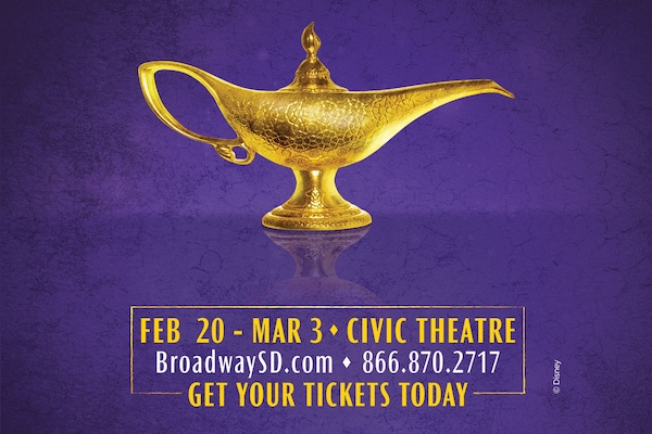 genie lamp feb 20 - mar 3 civie theatre, broadwaysd.com, 866.870.2717, get your tickets today