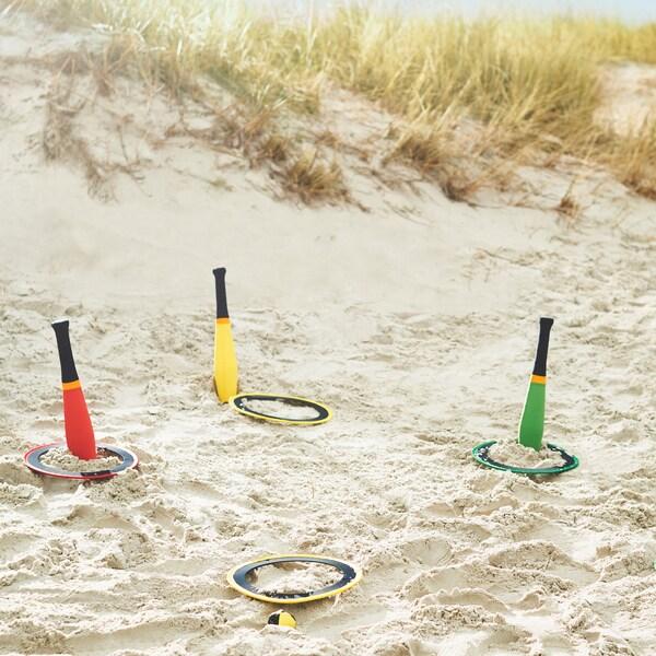 Genieße stressfreie Strandaktivitäten für die ganze Familie, z. B. mit TRÄNING Jonglier-Set