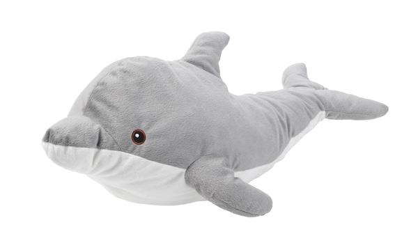 genomblot, dolfijn, pluche, speelgoed