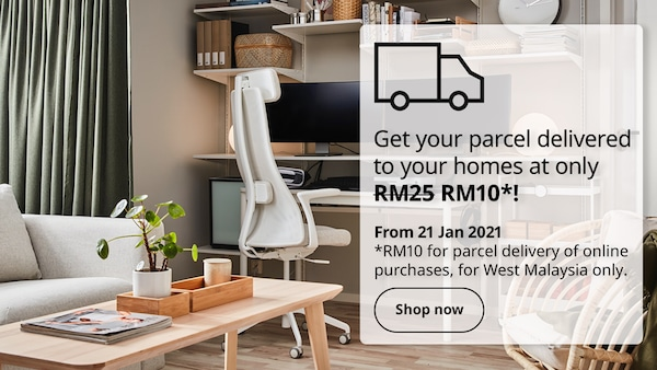 Get your parcel delivered to your homes at only RM10!