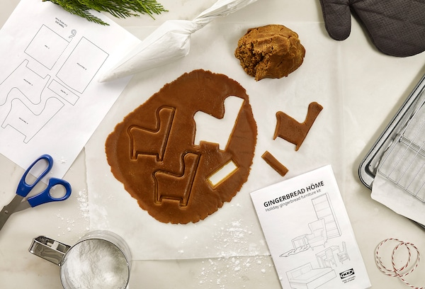 Gingerbread cutouts on a