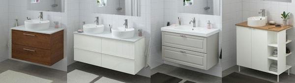 GODMORGON Badezimmermöbel viele Farben, GUTVIKEN Badezimmerschrank