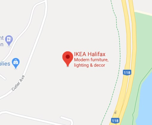 Google map of IKEA Halifax Store