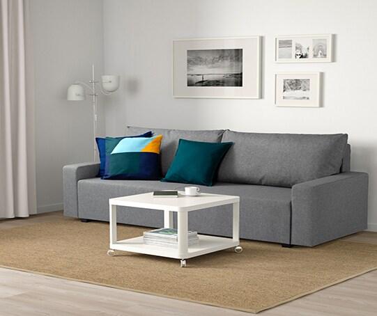 Гостиная диван-кровать серый