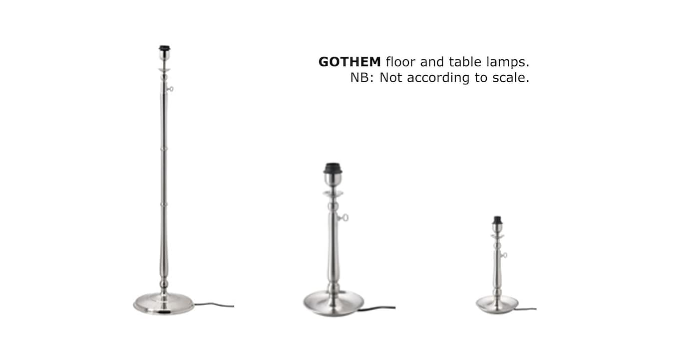 GOTHEM floor and table lamps