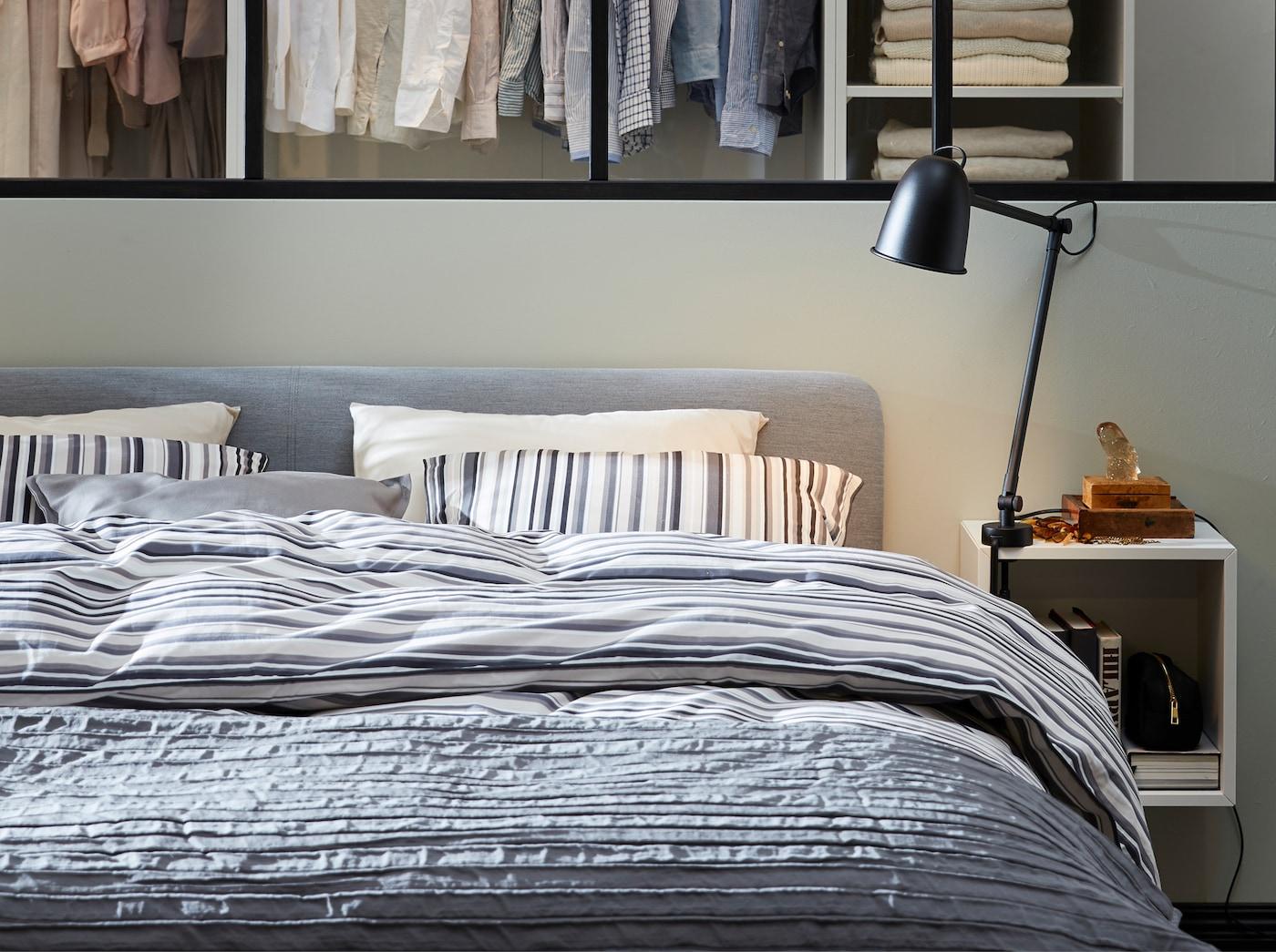 Et urbant og elegant soverom IKEA