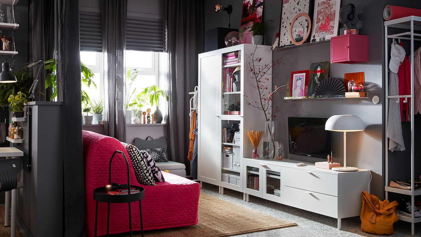 Picture of: Et Opholdsomrade Med Fantastisk Opbevaring Ikea
