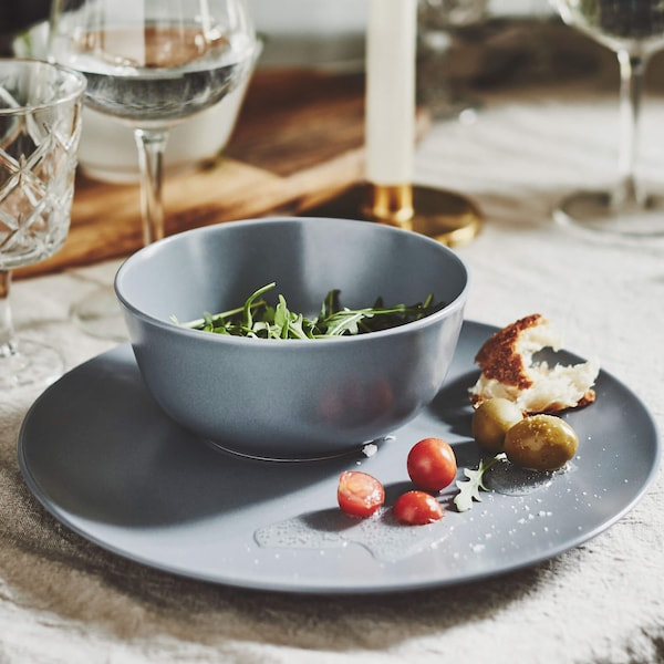 gray DINERA dinnerware set