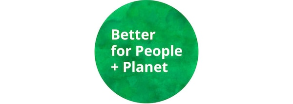 Green Better for People + Planet logo
