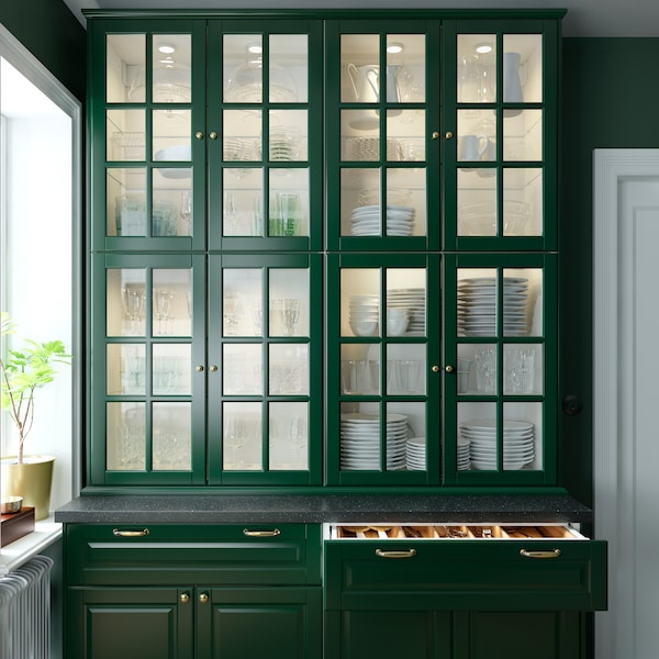 Are Ikea Kitchen Cabinets Good: A Green And Fresh BODBYN Kitchen