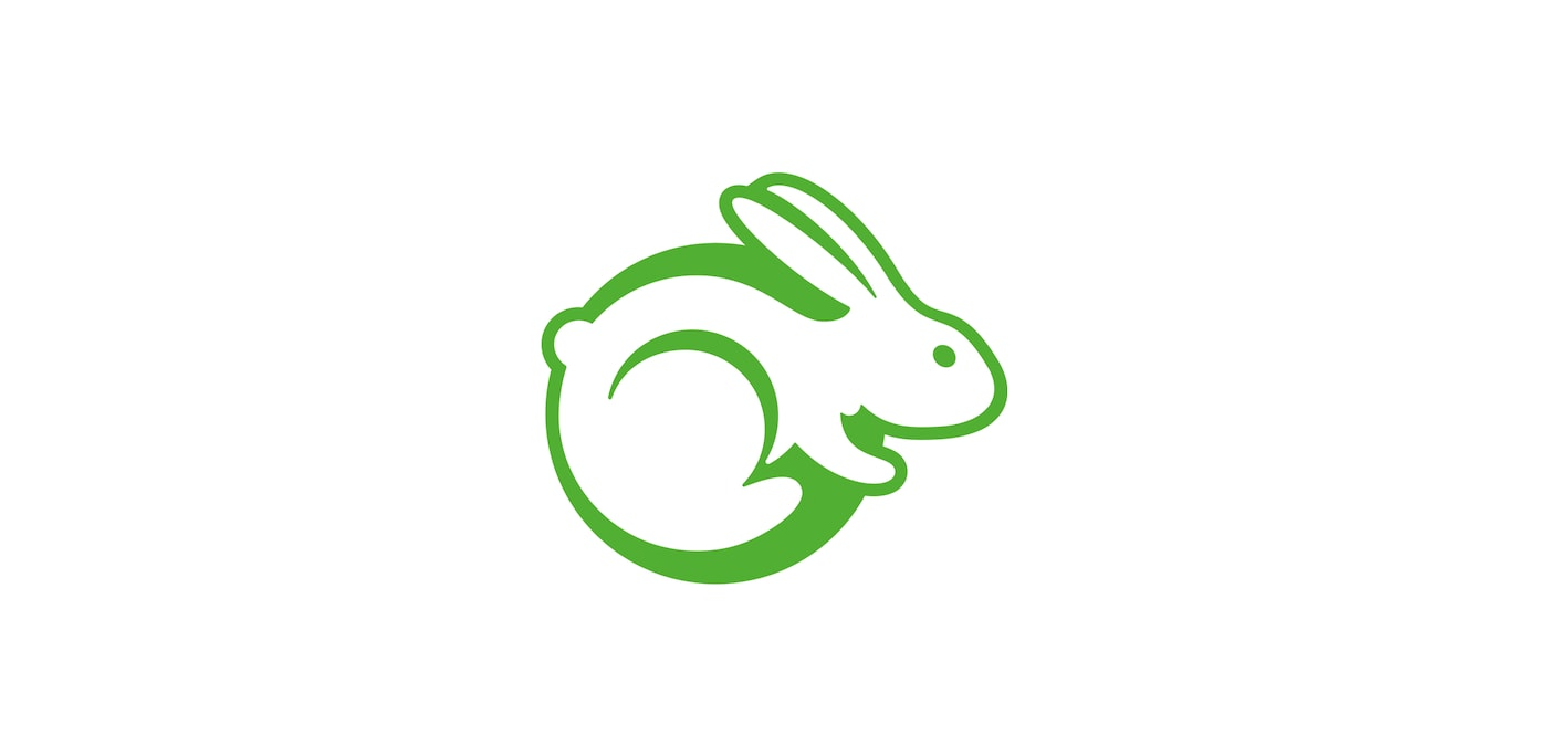 Green rabbit logo