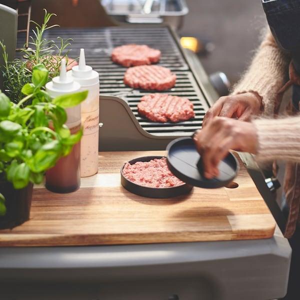 GRILLTIDER Hamburger press, aluminium