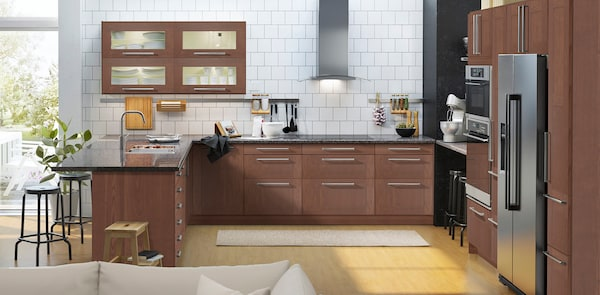 GRIMSLÖV brown kitchen fronts