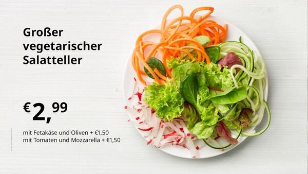 Großer vegetarischer Salatteller