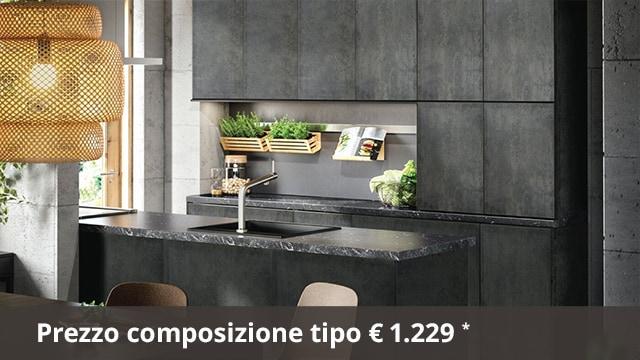 Guida per la cucina KALHYTTAN grigio scuro effetto cemento - IKEA