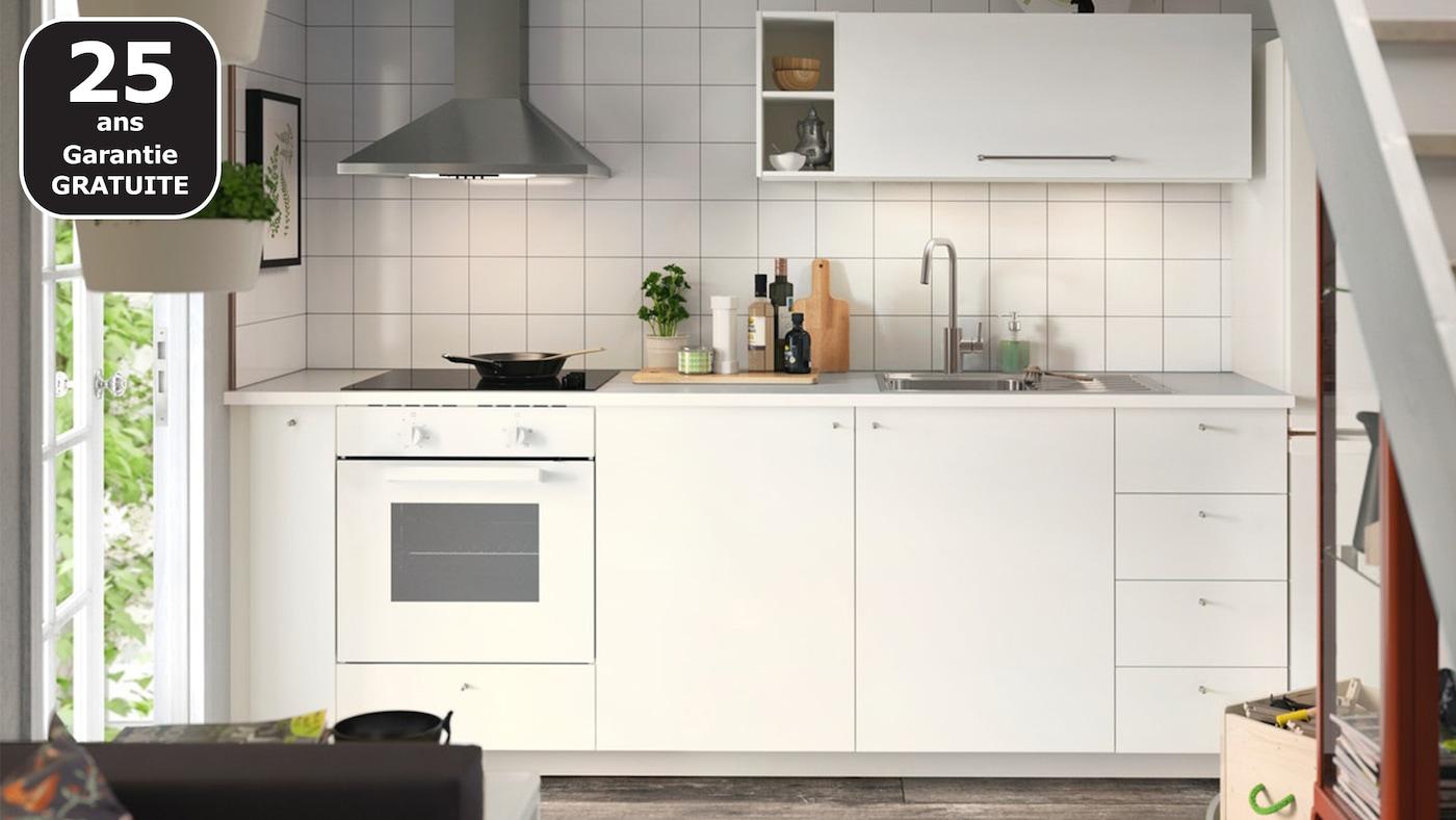HÄGGEBY blanc cuisine IKEA pas chère