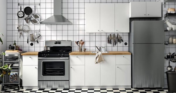 HÄGGEBY series with white cbinet doors.
