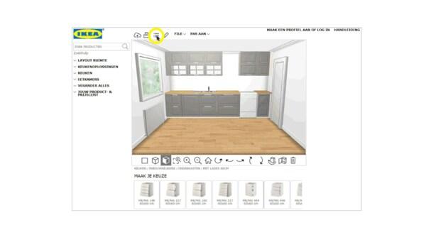 Handleiding keukenplanner prijslijst bekijken