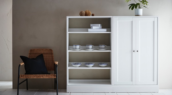 HAVSTA storage combination, white