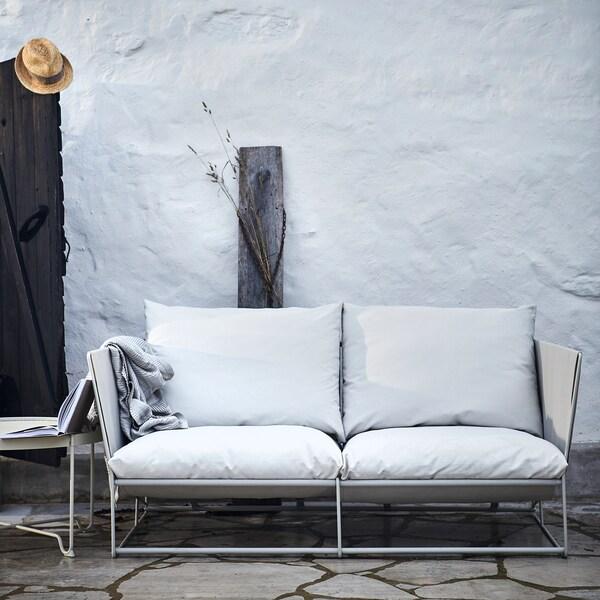 HAVSTEN 2-seat sofa, in/outdoor 179x94x90 cm beige