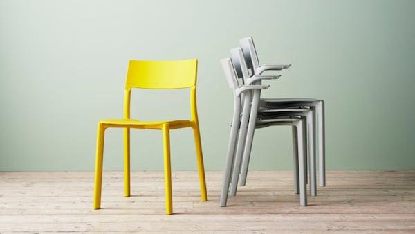 Header Ph125178 Die Pantone® Color of the Year 2021: Ultimate Gray und Illuminating – ein schönes Paar, wie unsere JANINGE Stühle beweisen.