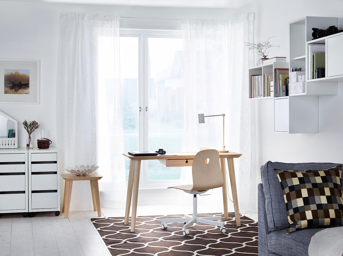 Arbeitsplatz in Wohnzimmer integrieren IKEA Deutschland