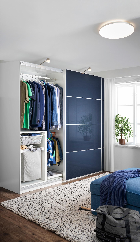 Dunkelblauer Schlichter Kleiderschrank Ikea Deutschland