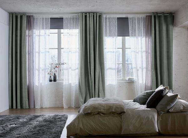 Gardinenlösung Für Elegante Schlafzimmer