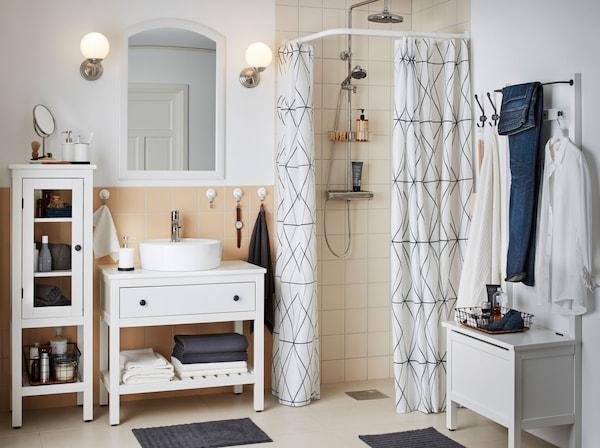 Ypperlig Et ryddig bad med lukket oppbevaring - IKEA AG-78