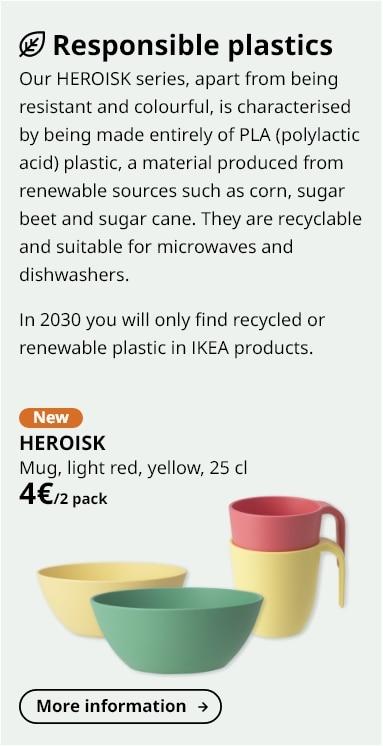 HEROISK Mug, light red, yellow, 25 cl