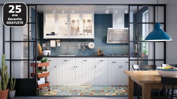 HITTARP blanc cassé cuisine IKEA