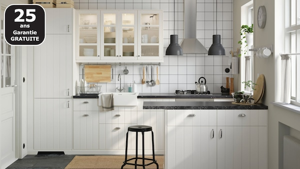 HITTARP cuisine blanche IKEA