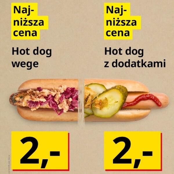 Hot dog wege lub Hot dog z dodatkami