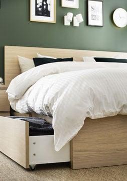 Housse de couette et taies d'oreiller vert à rayures, lit une place