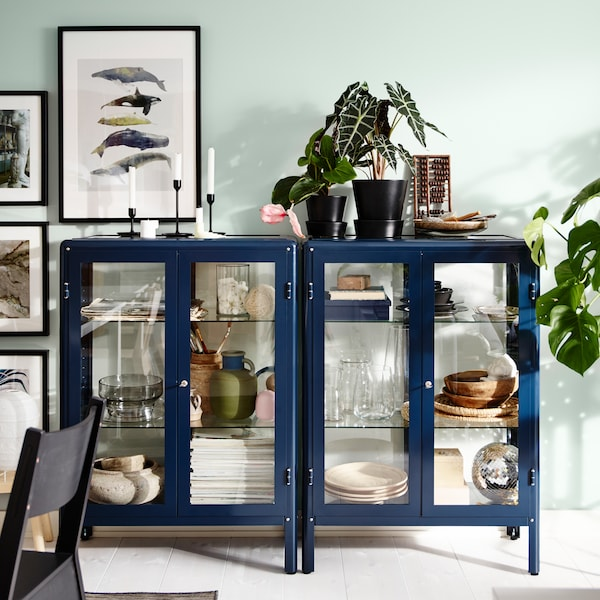 How to furnish with open and closed storage.
