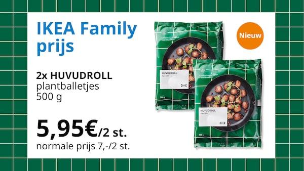 huvudroll 2x 500g plantballetjes voor 5,95€/2 st.