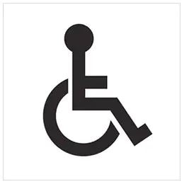 Icon for disable person.