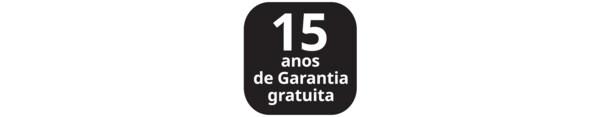 Ícone de 15 anos de garantia gratuita