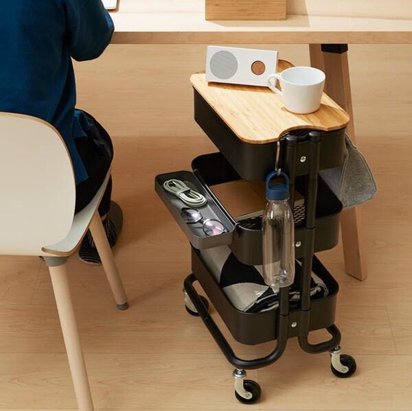 IDASEN drawer unit in grey