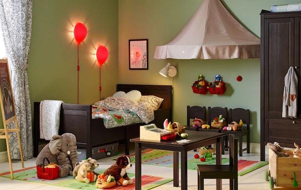 Ideas para habitaciones juveniles con mucho juego