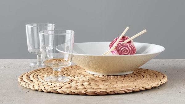 IKEA 365+ dinnerware.