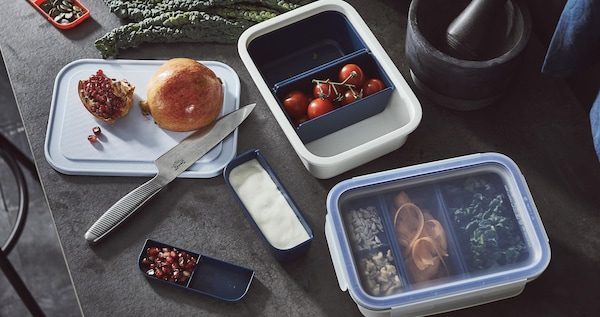 IKEA 365+ food containers with packed lunches