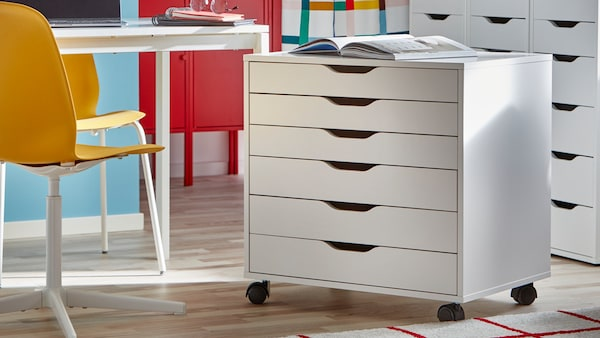 IKEA ALEX drawers are perfect for office storage