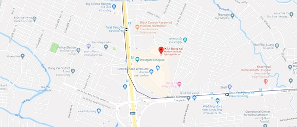 IKEA Bang Yai map 109,199,199/1-2 Moo 6, Rattanathibet Road Sao Thong Hin Sub-District Tambon Sao Thong Hin, Amphoe Bang Yai, Chang Wat Nonthaburi 11140, Thailand