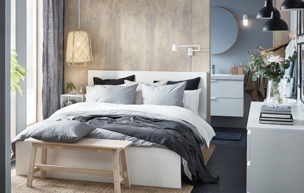 IKEA bed configurator MALM tweepersoonsbed wit