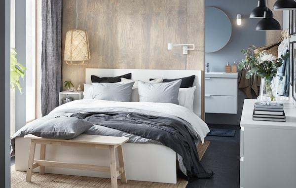 Ikea Tweepersoons Bedbank.Creeer Een Ontspannen Sfeer In De Slaapkamer Ikea